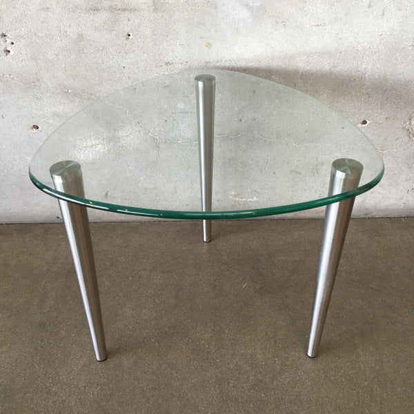 Glass and Metal Guitar Pick Side Table