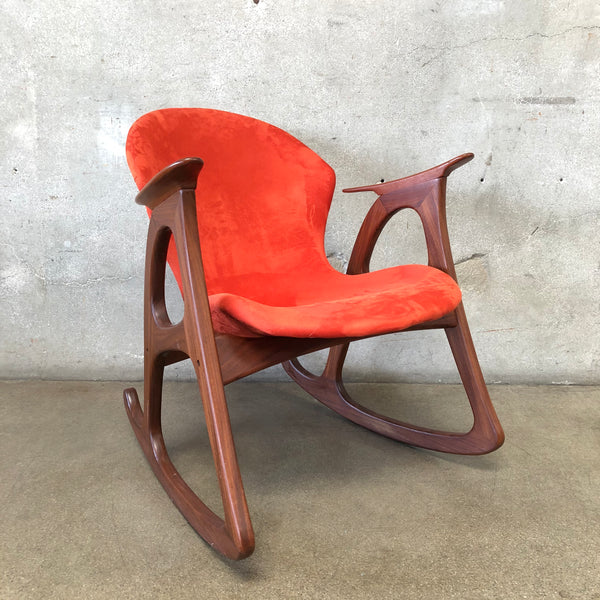 Mid Century Danish Modern Aage Christens Rocking Chair