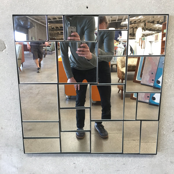 Modern Abstract Square Mirror