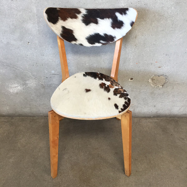 Vintage Bent Plywood Cowhide Chair