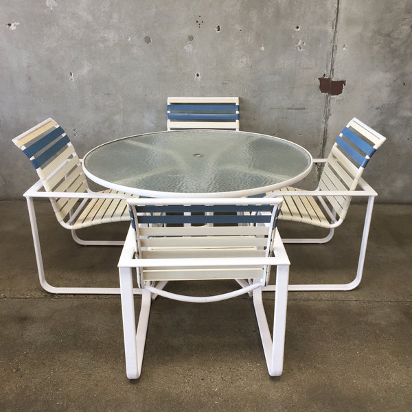 Vintage Five Piece Brown Jordan Patio Set