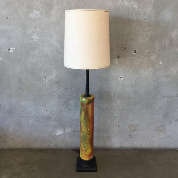 Mid Century Modern Tall Ceramic Floor Lamp