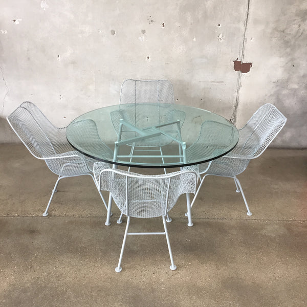 Russell Woodard Sculptura Chairs With Table