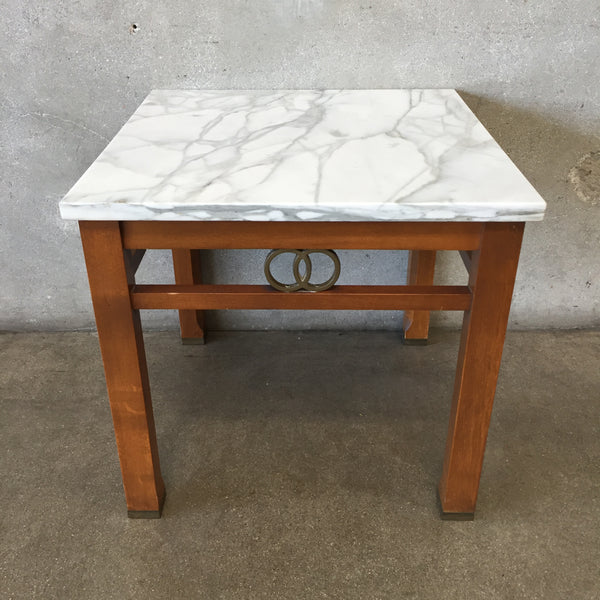 Vintage Italian Marble Side Table