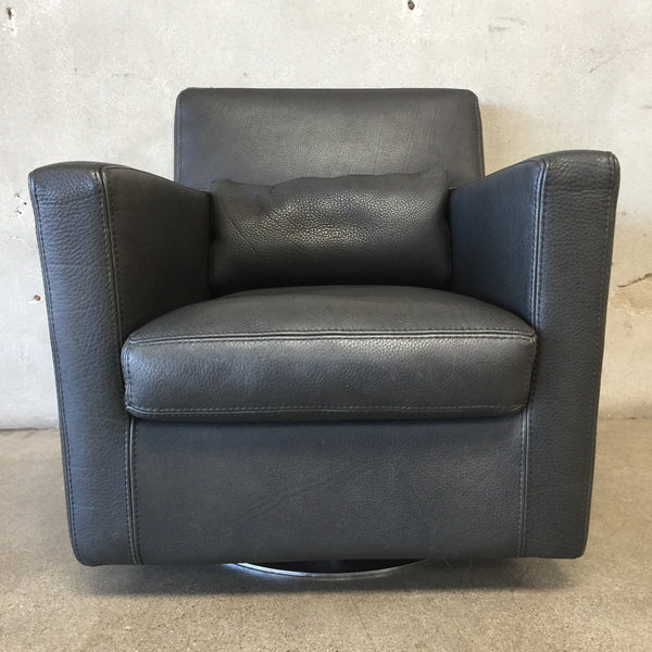 Modern Roche Bobois Swivel Lounge Chair