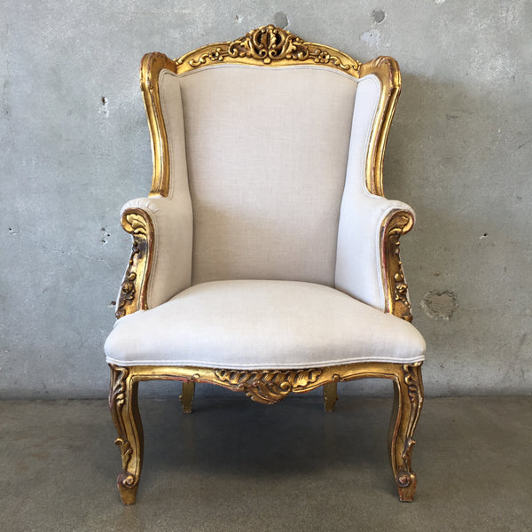 Vintage European Gold Guiled Chair