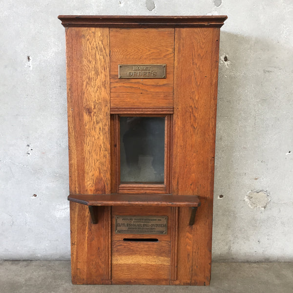 Vintage Oak Mail Order Postal Station