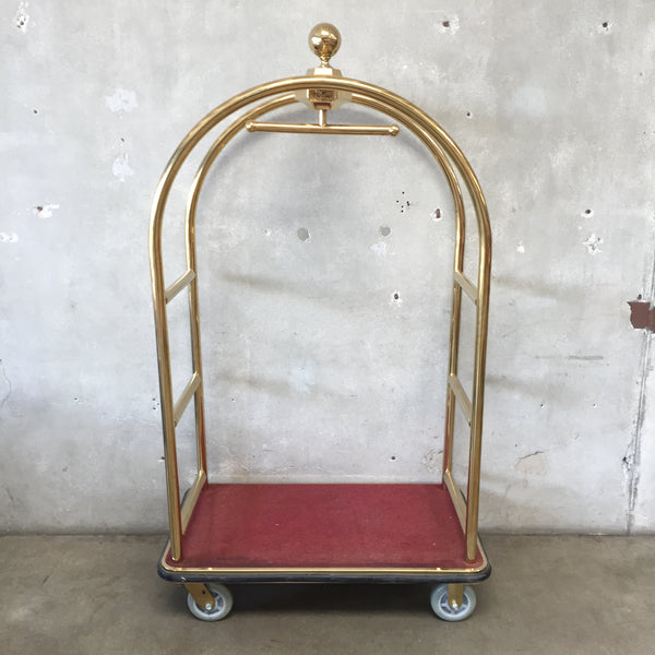 Gold Bellman Luggage Cart