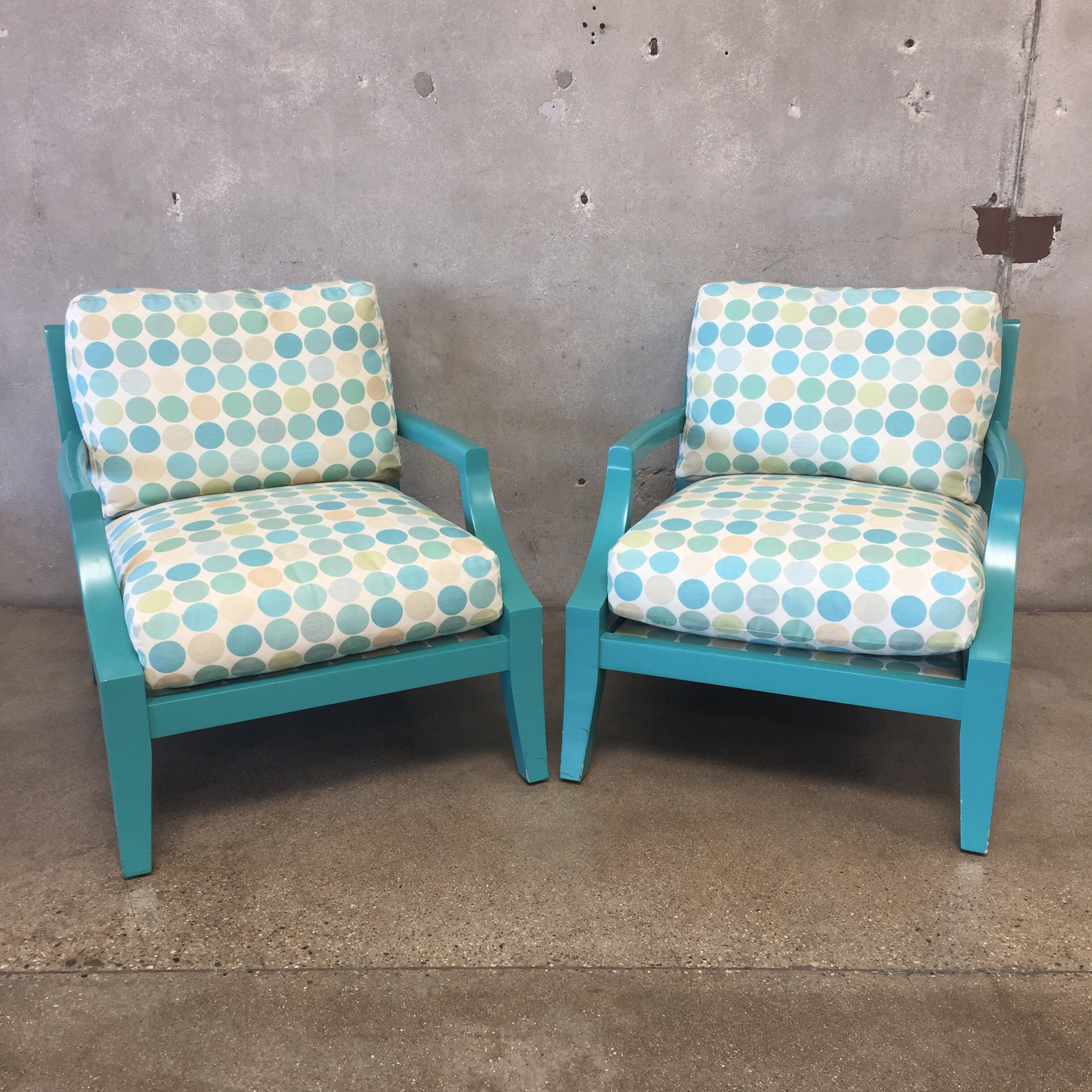 Pair Of A. Rudin Terracotta Down Filled Chairs ...