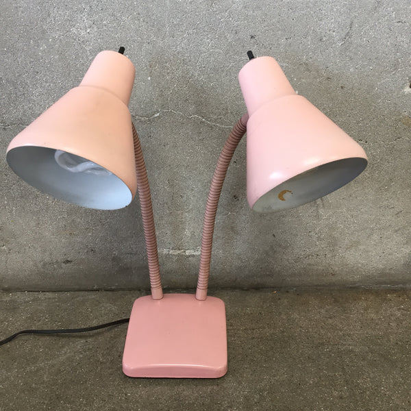 Pink Vintage Double Head Desk Lamp