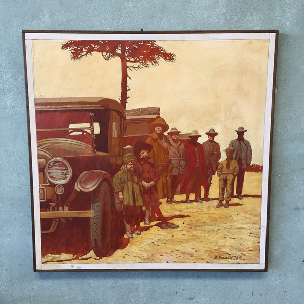 """Depiction of Depression Era"" Listed Painting by Bruce Hasselle"