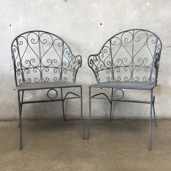 Pair of Iron Salterini Style Chairs