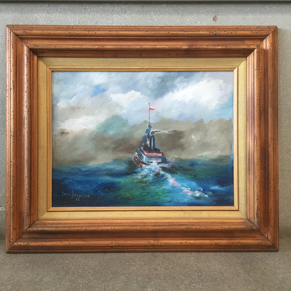 "Original Oil Painting on Canvas "" Tugboat"""