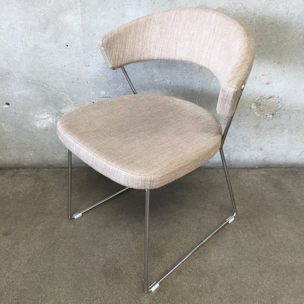 Calligaris New York Sled Guest Chair Made in Italy