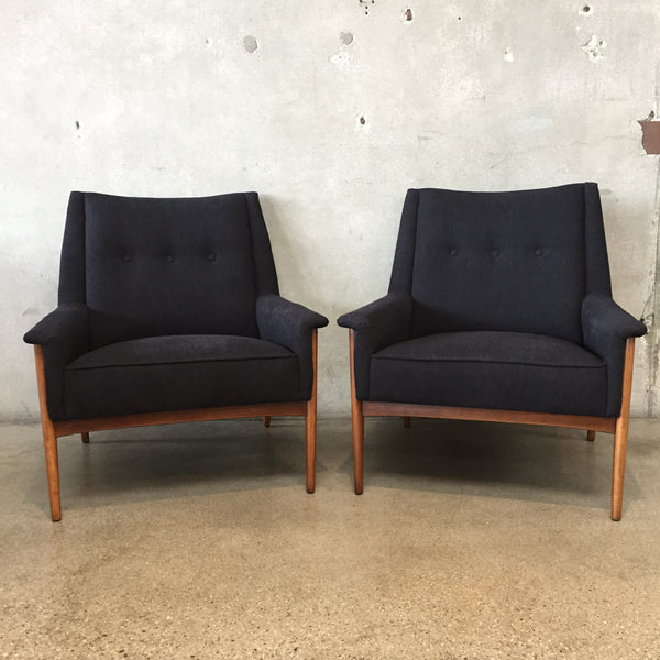 Mid Century Black Danish Modern Chairs