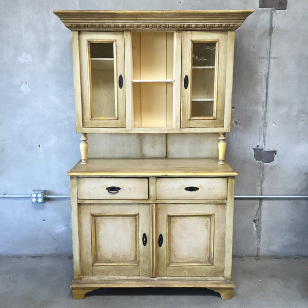 Vintage Yellow Cupboard from Bulgaria