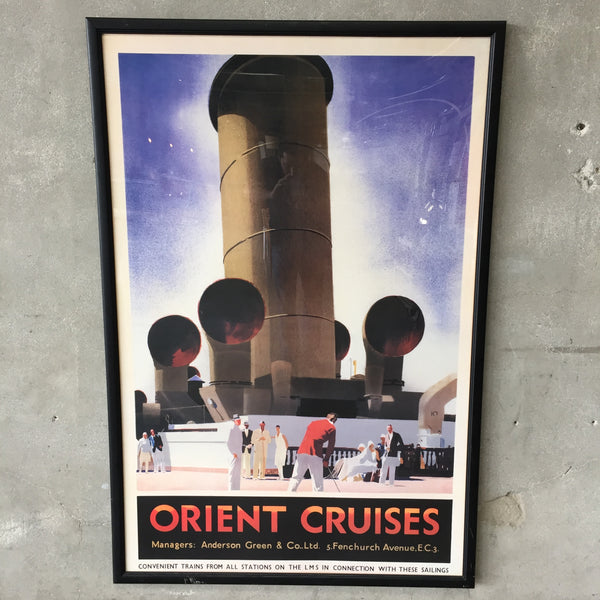 Orient Cruises Travel Framed Poster