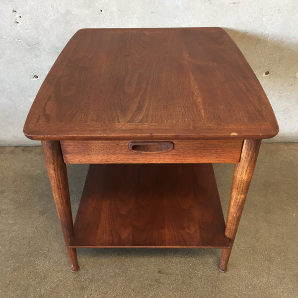 Mid Century Modern Walnut Side Table by Lane