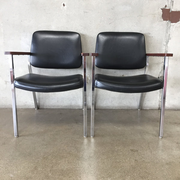 Pair Of Executive Office Chairs By United Furniture Company