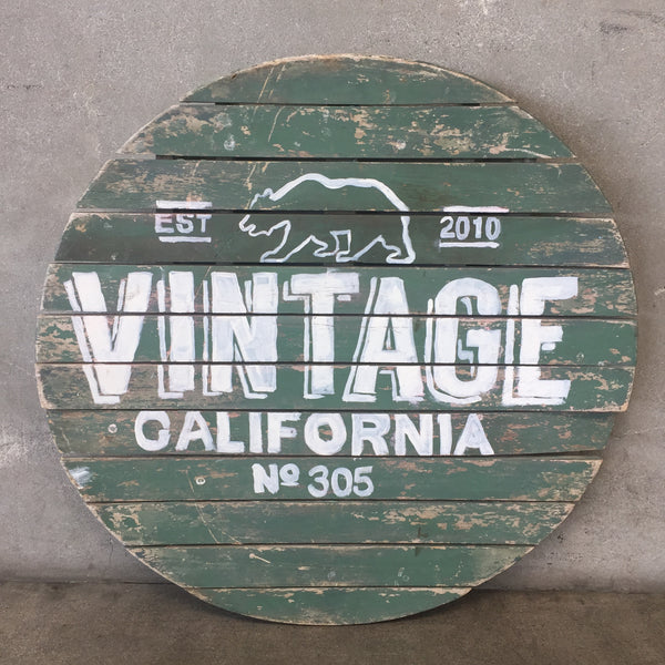 Re- Purposed Vintage Style CA Wood Sign