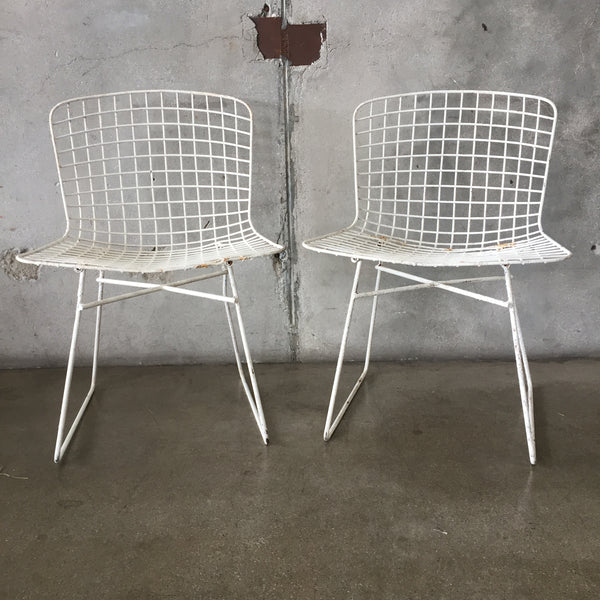 Mid Century Bertoia Chairs - Pair