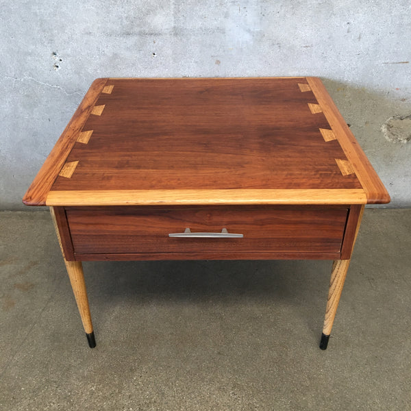 Mid Century Lane End Table with Drawer