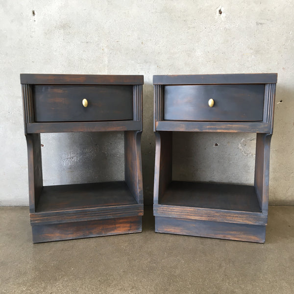 Pair of Graphite Mid Century End Tables