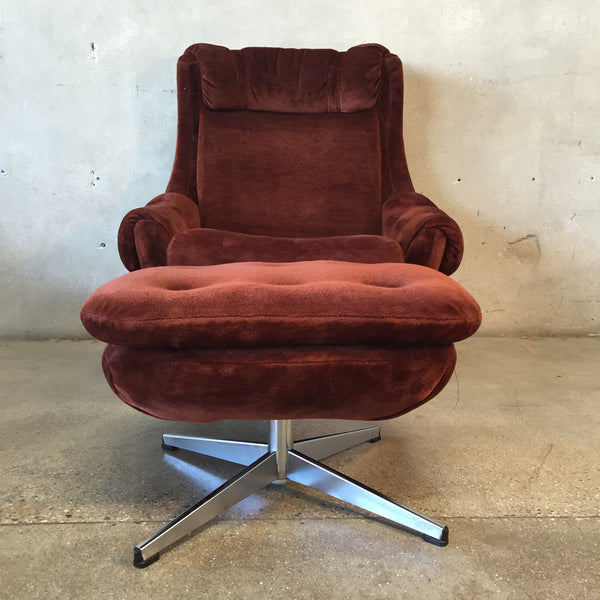 Vintage Mid Century Pod Chair by Overman
