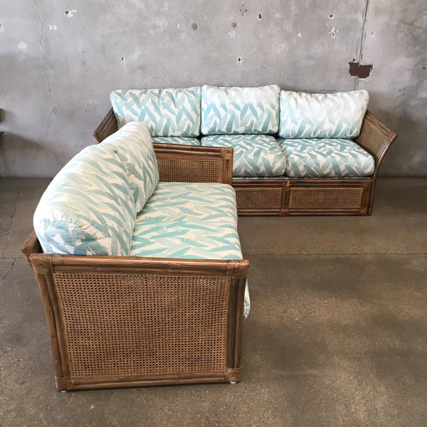 Vintage Wicker Sofa & Loveseat Set