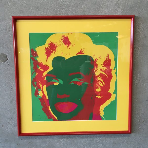Signed Warhol Marilyn Print