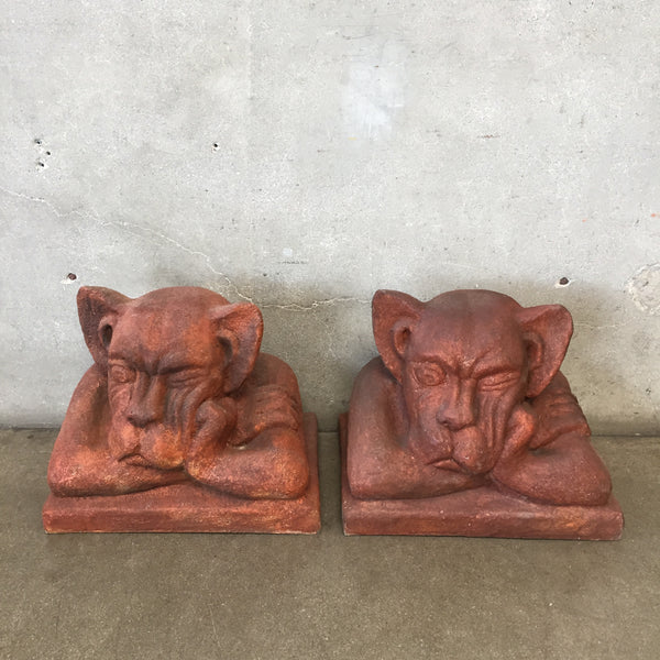 Vintage Pair of Gargoyles