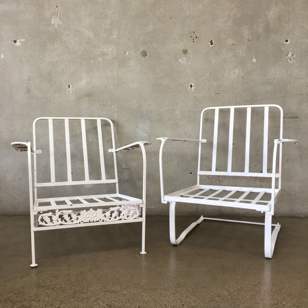 Vintage Mid Century Outdoor Club Chairs