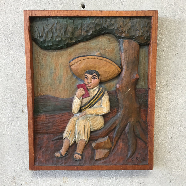 Mexican Bas Relief Carving by A. Cruz