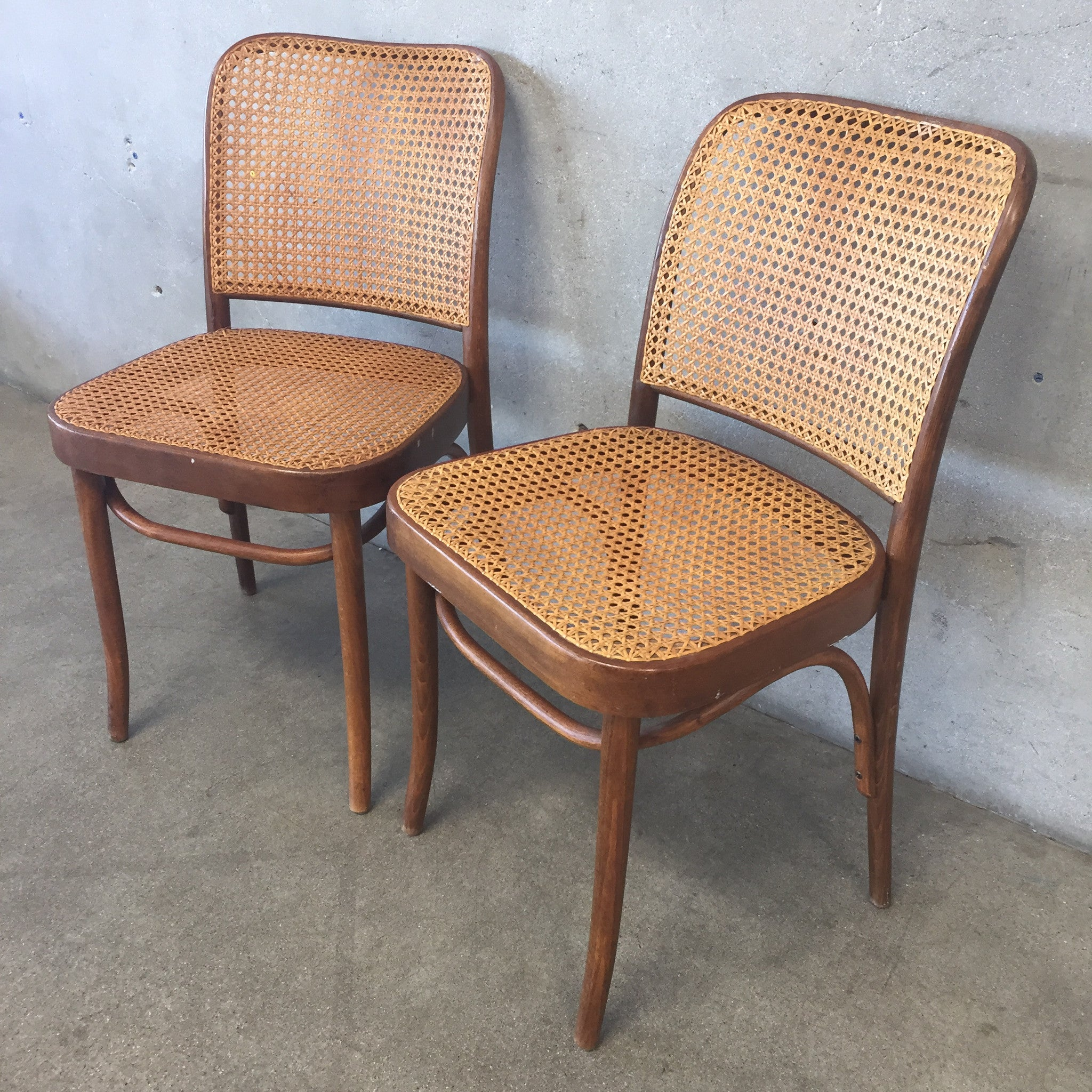 Pair of Vintage Thonet Style Cane Dining Chairs – UrbanAmericana