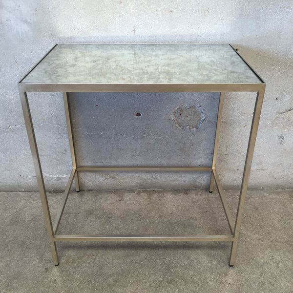 Mirror & Glass Modern End Table
