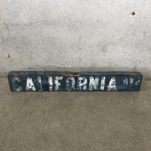 Rare Early Venice Beach California Street Sign