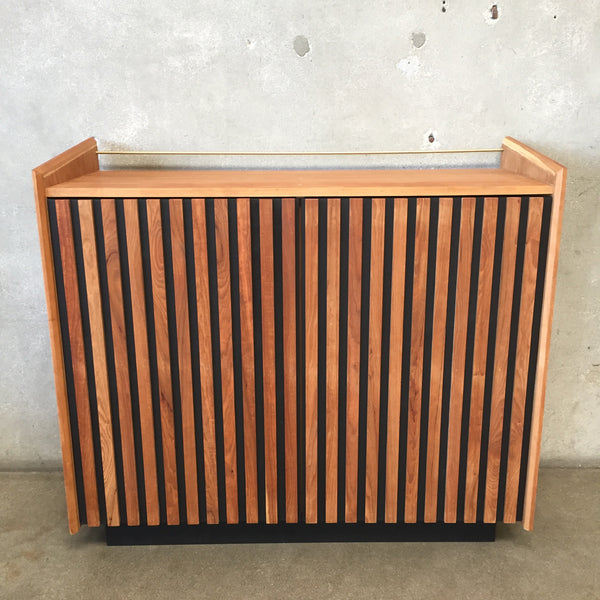Mid Century Style Custom Bar Cabinet by Local Maker