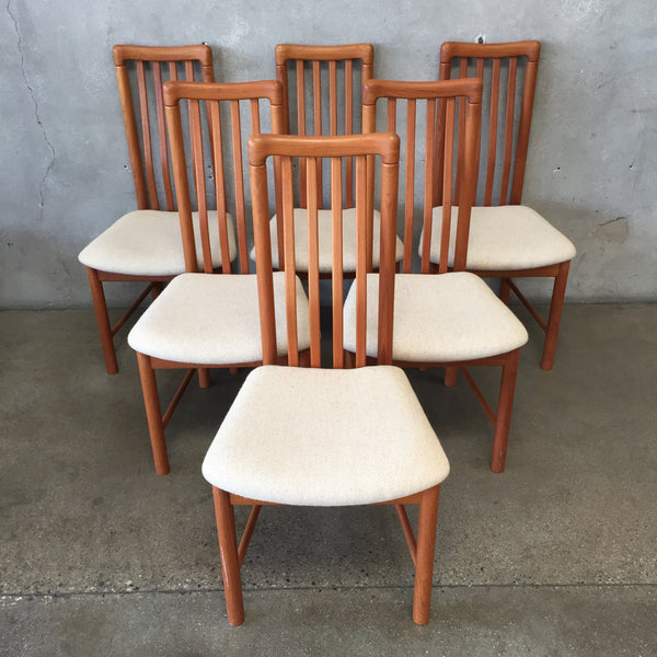 Set of Six Benny Linden Teak Mid Century Dining Chairs-HOLD