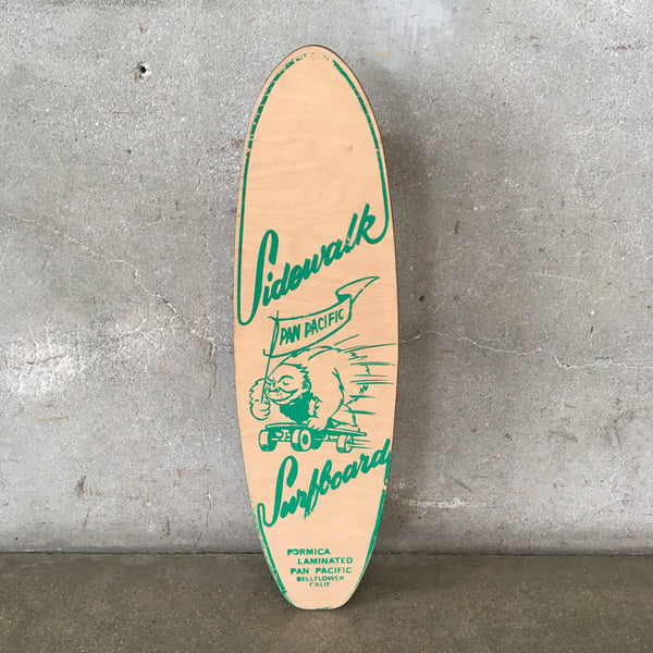 Rare Vintage Skateboard Sidewalk Surfboard by Pan Pacific