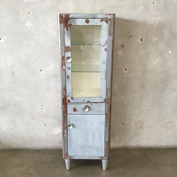 Vintage Industrial Medical Cabinet
