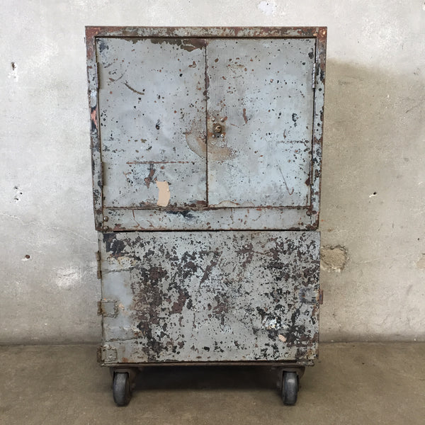 Industrial Bar Cart & Cabinet