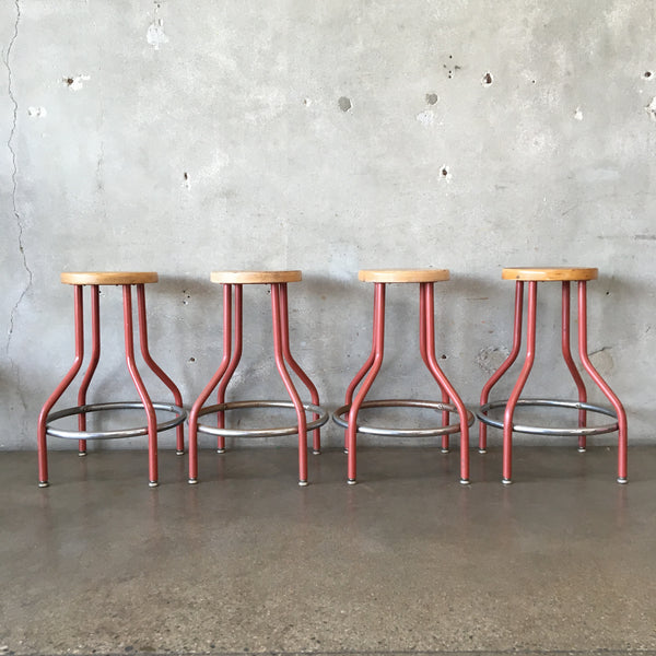 Set of Four Industrial Stools
