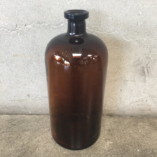 1900's Apothecary Amber Bottle