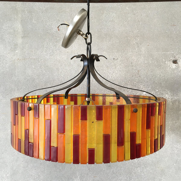 Multicolored Glass Hanging Light