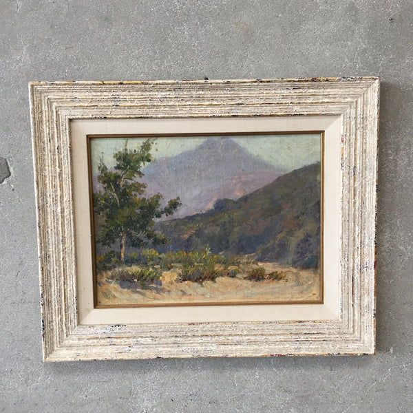 1950's Plein Air Oil on Board of Southern California Painting