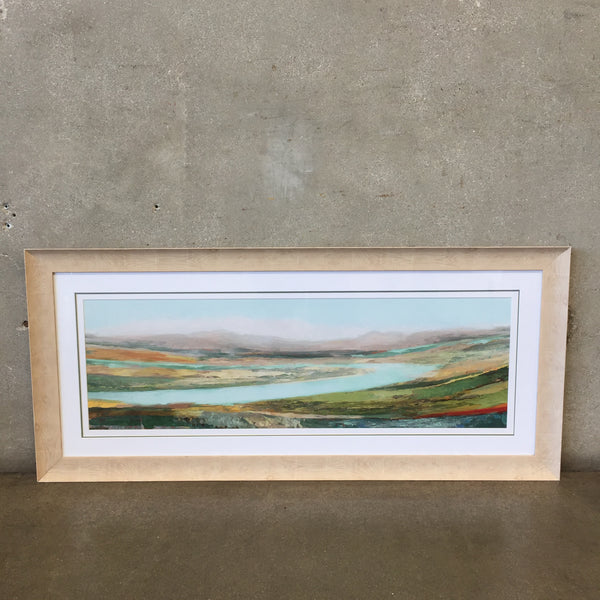 Abstract Landscape Artwork With Blonde Frame