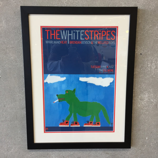 Framed White Stripes 2002 at the Fillmore Concert Poster
