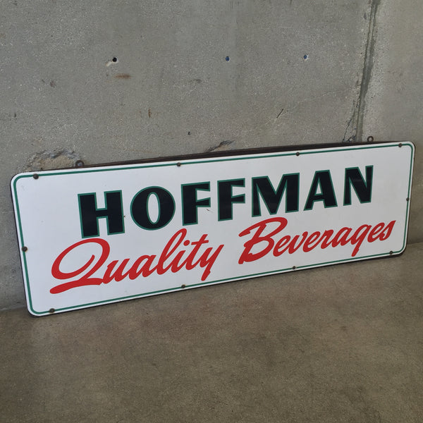 Vintage Hoffman Beverages Porcelain Signs