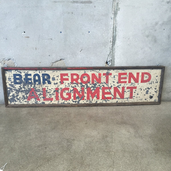 Vintage Bear Alignment Metal Sign