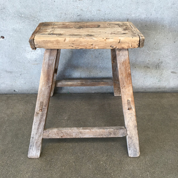 Primitive Wood Milking Stool